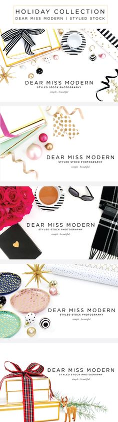 New Styled Stock Photos from Dear Miss Modern - Love these!