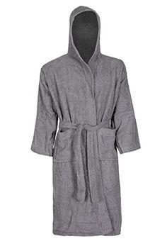 e4e86603bb clicktostyle Unisex Grey Colour 100% Egyptian Cotton Terr... https