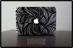 Pattern - Macbook Air, Macbook Pro, Macbook decals, sticker Vinyl Mac decals Apple Mac Decal, Laptop, iPad. $9.99, via Etsy.