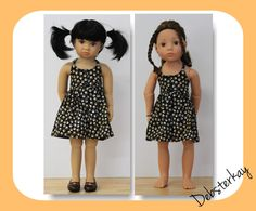 Endless Summer Halter Dress - Doll Clothes to fit Kidz n Cats, Gotz Happy Kidz dolls and other similar 18 inch dolls by Debsterkay on Etsy https://www.etsy.com/listing/246633126/endless-summer-halter-dress-doll-clothes