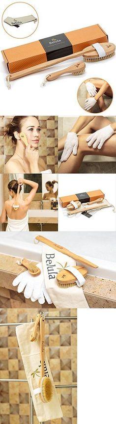 Bath Brushes and Sponges: Belula Dry Body Skin Natural Bath Brushing Handle Shower Back Spa And Brush -> BUY IT NOW ONLY: $31.36 on eBay!