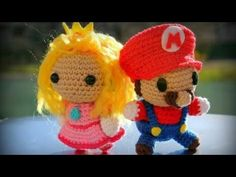 Princesa Peach Mario Bros amigurumi tejida a crochet (princess peach amigurumi) - YouTube