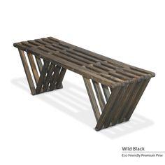 GloDea Eco Friendly Bench X60 (Wild Black), Patio Furniture (Pine)