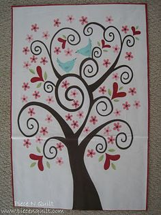 Love the love birds in this tree- somewhere on a quilt or something