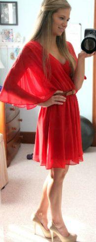 Red... Such a pretty dress
