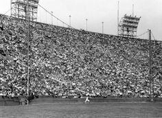 On this day in 1958 - Dodgers erect 42-foot screen in left field at LA Coliseum to cut down on home runs, since it is only 250 feet down the line, thus initiating the famed Moon Shots of Wally Moon.