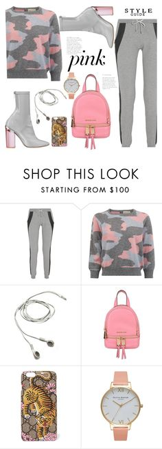 """""""Jungle Pink"""" by hattie4palmerstone ❤ liked on Polyvore featuring Lot78, Christian Dior, MICHAEL Michael Kors, Gucci and Olivia Burton"""