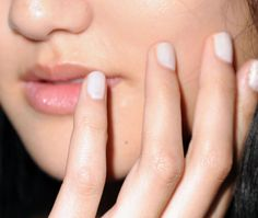 Studio White nails created for the Karen Walker Spring 2013 Collection #nyfw