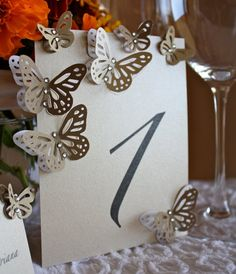 Pearl Table Numbers Card Table Tag with by MademoiselleAdriana,