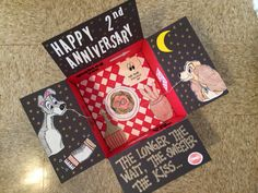 Disney's Lady and the Tramp themed anniversary care package for your deployed soldier. Made by Emily Sexton