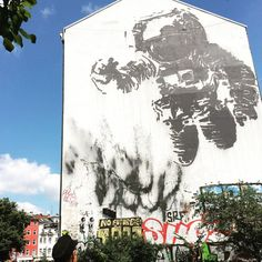 "Iconic #Streetart in #Berlin #Kreuzberg #Oranienstraße. The #astronautcosmonaut is a piece by #Streetartartist #VictorAsh. The artist said in an interview about his painting: ""when I did the astronaut painting in Berlin I used the idea of the Cold War ; I wanted to do something that related to the location where I was painting. And I thought of this huge astronaut because for me one of the most important things about Berlin was that it was an icon for the Cold War. So I made the astronaut in…"