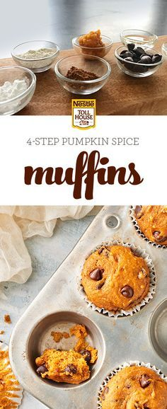 'Tis the season to share some goodness with those who inspire you. For a festive recipe that everyone will love, whip up a batch of our Chocolate Chip Pumpkin Spice Muffins. Simply combine NESTLÉ® TOLL HOUSE® Cookie Baking Mix with Semi- Sweet Chocolate Morsels with LIBBY'S® 100% Pure Pumpkin for a wonderfully moist, flavorful treat that's sure to  show your inspiring person (or persons!) how much they mean to you. Get the recipe and bake your own from scratch.