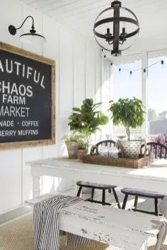 living kitchen room are readily available on our web pages. Have a look and you wont be sorry you did. Country Farmhouse Decor, Farmhouse Style Kitchen, Modern Farmhouse Kitchens, Farmhouse Chic, Home Decor Kitchen, Farmhouse Plans, Diy Kitchens, Farmhouse Lighting, Kitchen Ideas