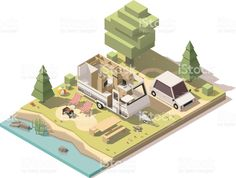 Image result for low poly environment isometric