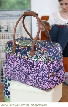 travel bag sewing pattern (máquinas)