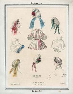 Casey Fashion Plates Detail   Los Angeles Public Library; Le Bon Ton, February, 1861.