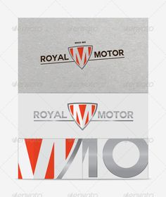 Royal Motor Logo Template — Vector EPS #grey #car • Available here → https://graphicriver.net/item/royal-motor-logo-template/3020123?ref=pxcr