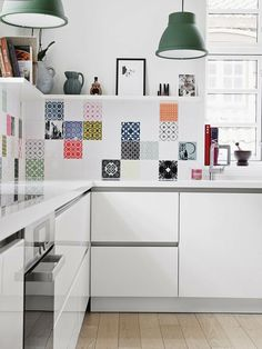Speelse tegels in de keuken