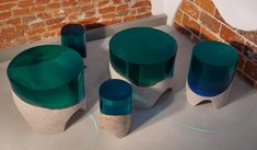 Immerso ( family portrait ) tables and stools - 2018, Eduard Locota