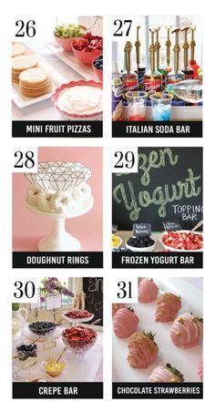 Adorable Bridal Shower Food Ideas - love the mini fruit pizza idea Bridal Shower Menu, Fun Bridal Shower Games, Printable Bridal Shower Games, Bridal Shower Decorations, Bridal Shower Gifts, Fruit Pizza Bar, Mini Fruit Pizzas, Christmas Friends, Backyard Bridal Showers