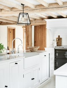 Leoni Hogan-Duvall & her Neptune Chichester kitchen in century listed barn in Kent. Cabinets painted in Shell. Shaker Kitchen, New Kitchen, Kitchen Dining, Kitchen Decor, Kitchen Cabinets, Kitchen Ideas, Kitchen Layout, Rustic Kitchen, Country Kitchen
