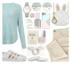 """White Rabbit"" by nadiahirbah288 on Polyvore featuring JDY, Loungefly, adidas, Chloé, Casetify, CLUSE, Essie, Kocostar, Topshop and Kitsch"