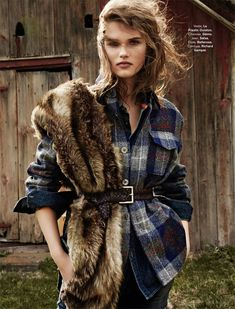 Прибалтийская красавица Гидре Дукаускайте (Giedre Dukauskaite) позирует Хилари Валш (Hilary Walsh) для французского Glamour, декабрь 2014.