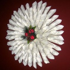 Paper Cone Wreath Craft: Recycle Book Pages to Make Inexpensive WreathOrganic Living for a Healthy Family