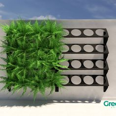 kit c/ 8 módulos - Jardim Vertical - Green Up 50 + 50 no Vertical Plant Wall, Vertical Garden Planters, Vertical Garden Design, Balcony Garden, Jardim Vertical Diy, Garden Wall Designs, Walled Garden, House Plants Decor, Tropical Landscaping
