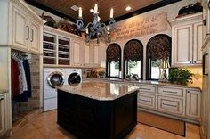 Wow....the ultimate laundry room!
