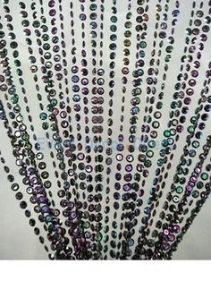 6ft. Black Iridescent Diamond Cut Crystal Curtain