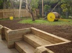 wooden steps for garden | ... garden structures,retaining walls,wooden steps,how-to build,free