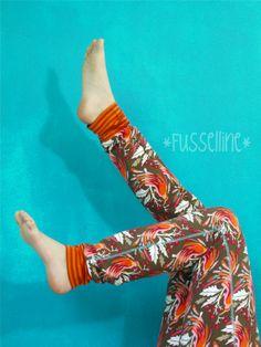 Fussellines Blog: schmale Basichose von Ki-ba-doo, Fly me to paradise Stoff von hamburgerliebe