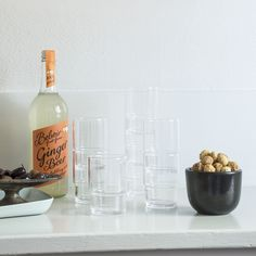 Crafted from fine glass, these durable tumblers feature a stackable design that's ideal for conserving space in the modern kitchen. Clean and simple, these glasses are refined, yet substantial enough to withstand everyday use.