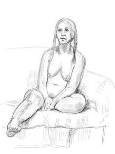 "iPad drawing from life ""Larissa"" by Phil Lockwood"