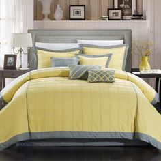 Reynold 12 Piece Bed in a Bag Comforter Set by Chic Home - 111CK111-BIB-HE