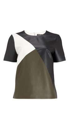 Colour Block Leather Top at Whistles