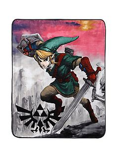 "<p>Soft, warm and cuddly micro raschel throw from <em>The Legend Of Zelda </em>with a Link themed design.</p>  <ul> <li>50"" x 60""</li> <li>100% polyester</li> <li>Imported</li> </ul>"