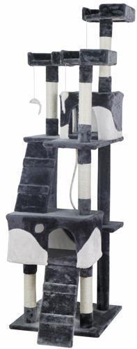 Kočičí škrabadlo 170 cm šedo-bílé | Slevnuj.cz - Nákupní galerie - každý den nové zboží