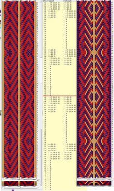 30 tarjetas, 3 colores, repite cada 46 movimientos // sed_558 diseñado en GTT༺❁