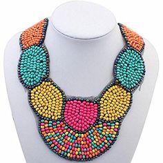 Vyage (TM) Bib Choker Bohemia Beads Opulente Halskette Frauen Mehrfarbenkragen-Halsketten & Anh?nger Sommer-Art-Schmucksachen f¨¹r Geschenk-Partei