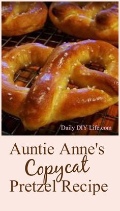Auntie Anne's Copycat Pretzel Recipe | DailyDIYLife.com Don't forget to dip unbaked pretzel dough in boiled alkali water before baking, will make browner crust and better taste