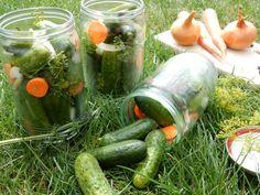 Vynikající domácí nakládané okurky. Osvědčený a léta odzkoušený recept. Okurky zavařujeme každý rok a tento nálev na okurky je opravdu super ... Korn, Pickles, Cucumber, Clean Eating, Healthy Foods, Meal, Tips, Pickle, Zucchini