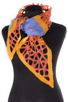 Scarf handmade Merino wool Scarves felt gift idea от IvantsovaFelt