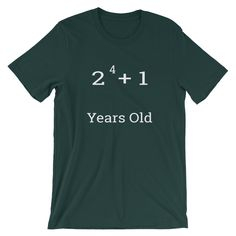 17th Birthday Funny Math Pun Short Sleeve Unisex T Shirt By TrulyFoundDesigns On Etsy