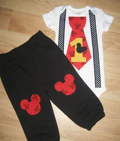 Mickey mouse 1st birthday outfit Boys cake smash by kottoncactus, $36.00