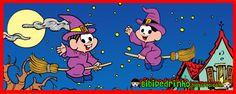 Bibi e Pedrinho: Dia das Bruxas - Desenhos para Colorir