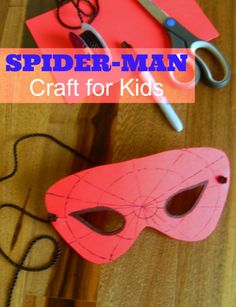 Fun Spider-Man mask craft to go along with your Spider-Man party games for kids