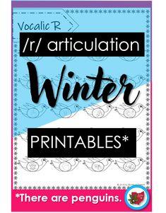 An easy, no prep penguin-themed winter articulation activity!