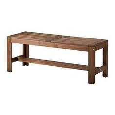 IKEA - ÄPPLARÖ, Bench, outdoor, For added durability and so you can enjoy the natural expression of the wood, the furniture has been pre-treated with several layers of semi-transparent wood stain.